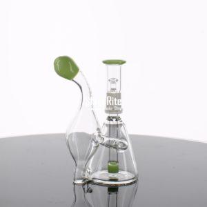 Small Greenish tips Recycler Dab Rig