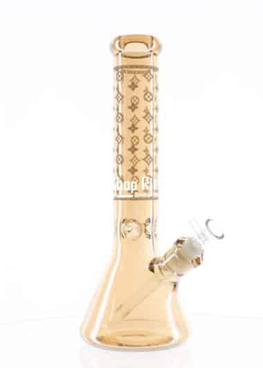 Louis Vuitton theme Gold Beaker Bong