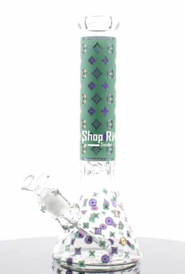 Louis Vuitton Themed bong blue Medium