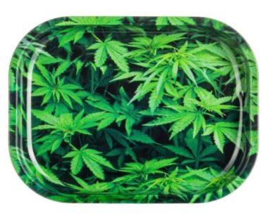Green Leaf Rolling Tray