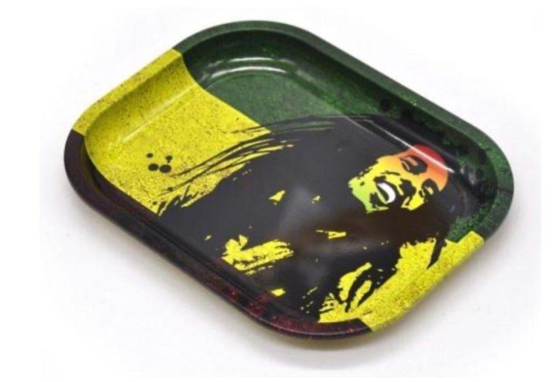 Rolling Tray Bob Marley Pic