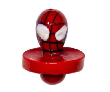 Spider man glass carb cap